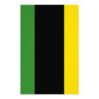 ジャマイカ色の抜け目がないダッシュ 便箋