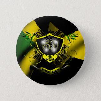 ジャマイカ50のお祝いボタン 5.7CM 丸型バッジ
