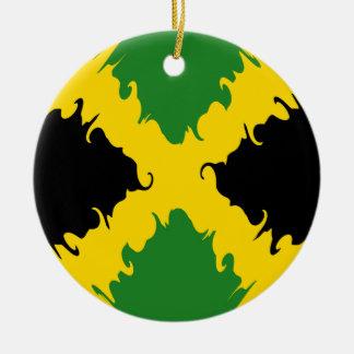 ジャマイカ|すごい|旗 陶器製丸型オーナメント