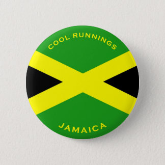 ジャマイカ-クールなランニングボタン 缶バッジ