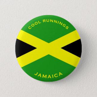 ジャマイカ-クールなランニングボタン 5.7CM 丸型バッジ