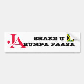 """ジャマイカ""""振動U Bumpa""""のバンパーステッカー バンパーステッカー"""