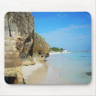ジャマイカ-銀製の砂のビーチ マウスパッド