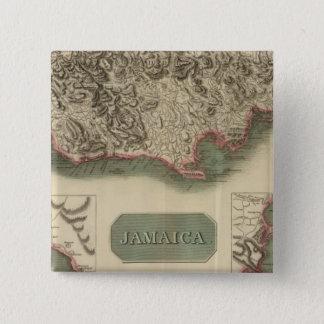 ジャマイカ 5.1CM 正方形バッジ