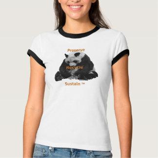 ジャム、リサイクルは、女性のTシャツを支えます Tシャツ