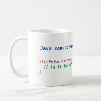 ジャワのisFalseの謎解き問題のマグ コーヒーマグカップ