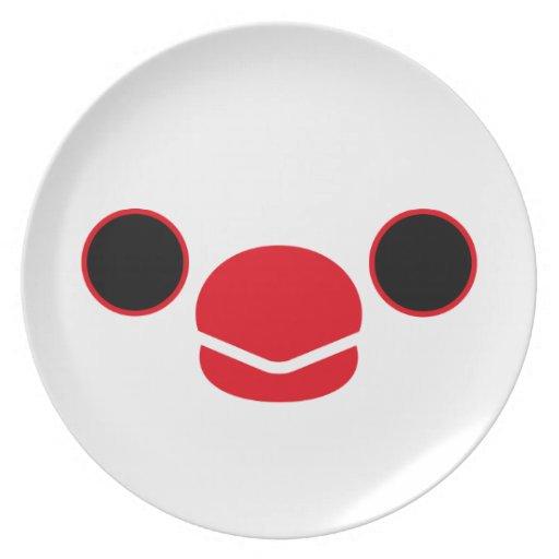 ジャワ|すずめ|(白) パーティー皿