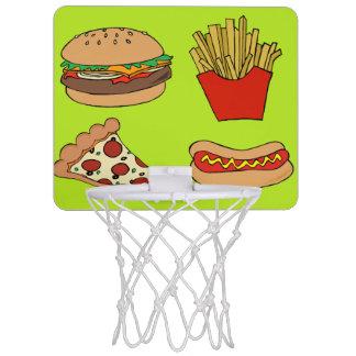 ジャンクフードのバスケットボールセット ミニバスケットボールネット