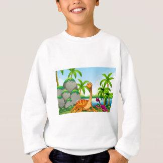 ジャングルに住んでいる恐竜 スウェットシャツ