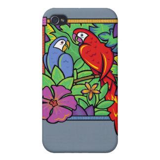 ジャングルのオウム及びコンゴウインコ iPhone 4/4S ケース