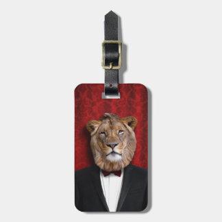 ジャングルのタキシードの王のレオのライオン ラゲッジタグ