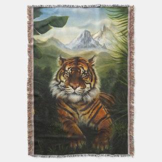 ジャングルのトラの景色のブランケット スローブランケット