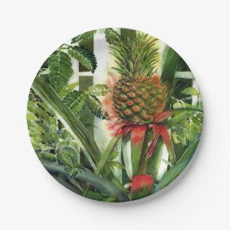 ジャングルのパイナップル ペーパープレート