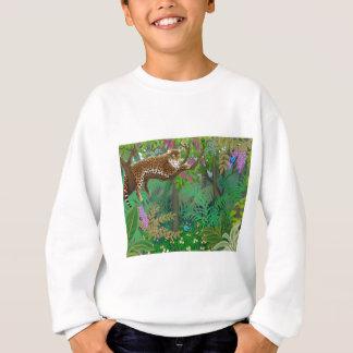 ジャングルのヒョウはスエットシャツをからかいます スウェットシャツ