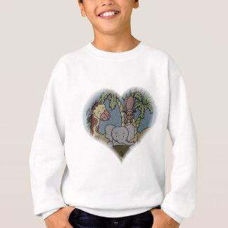 ジャングルのベビーのハート スウェットシャツ