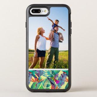 ジャングルの写真の水彩画Humminbirds オッターボックスシンメトリーiPhone 8 Plus/7 Plusケース