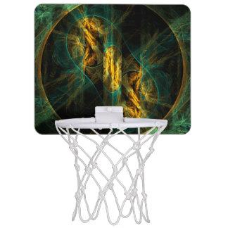 ジャングルの抽象美術の目 ミニバスケットボールゴール