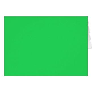ジャングルの緑色航法燈(無地)の~ カード