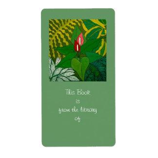 ジャングルの蔵書票 発送ラベル
