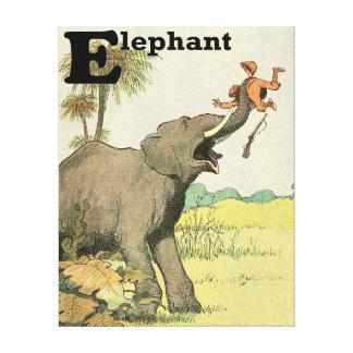 ジャングルの象そして密猟者 キャンバスプリント