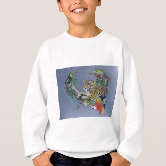 ジャングルの野性生物 スウェットシャツ