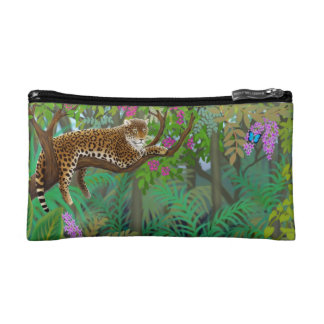 ジャングルのBagettesのバッグの平和なヒョウ コスメティックバッグ