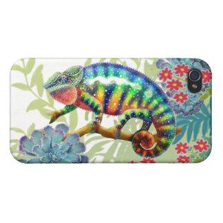 ジャングルのiPhoneの場合のヒョウのカメレオン iPhone 4 ケース