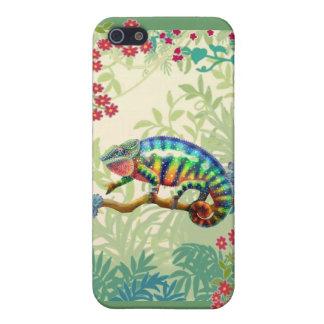 ジャングルのiPhoneの場合のヒョウのカメレオン iPhone 5 ケース