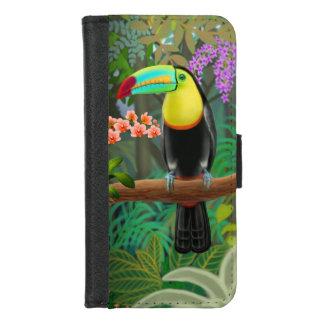 ジャングルのiPhoneの熱帯Toucan 8/7のウォレットケース iPhone 8/7 ウォレットケース