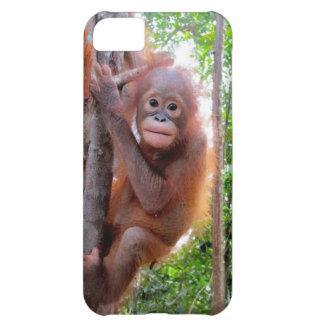 ジャングルのUttuhのベビーのオランウータン iPhone5Cケース