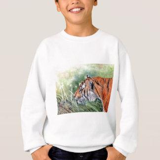 ジャングルを通したトラの歩く スウェットシャツ