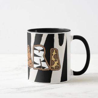 ジャングルサファリのテーマのコーヒーカップのマグ マグカップ