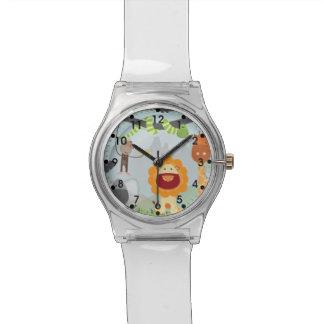 ジャングル動物のおもしろい 腕時計