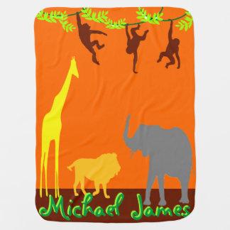 ジャングル動物のベビーブランケット ベビー ブランケット