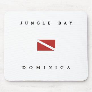 ジャングル湾のドミニカのスキューバ飛び込みの旗 マウスパッド