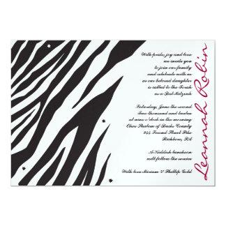 ジャングル・フィーバーのこうもりのバーの(ユダヤ教の)バル・ミツバーの招待状の招待 カード