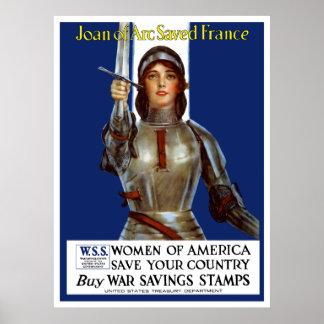 ジャンヌダルクはフランスを救いました -- WWI ポスター