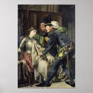 ジャンヌダルクは刑務所1866年で侮辱しました ポスター