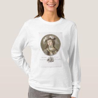 ジャンヌダルク(1412-31年)のポートレート、1787年(着色される Tシャツ