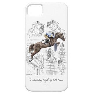ジャンパーの馬の塀のモンタージュ iPhone SE/5/5s ケース