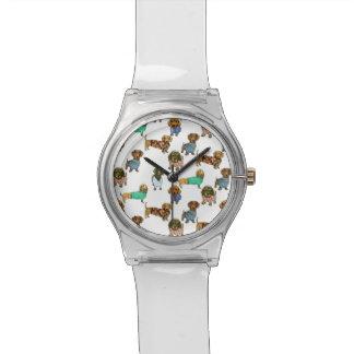 ジャンパーを持つダックスフント/ダックスフント 腕時計