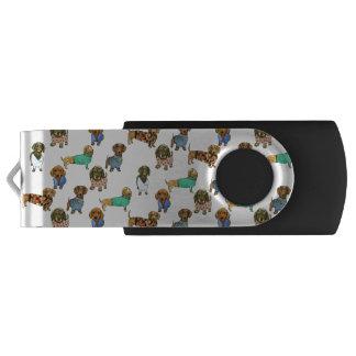 ジャンパーを持つダックスフント/ダックスフント USBフラッシュドライブ