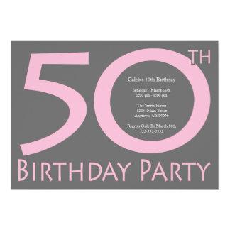 ジャンボは番号を付けます誕生会(ピンク/灰色)に カード