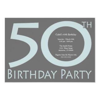ジャンボは番号を付けます誕生会(ブルーグレー/灰色)に カード
