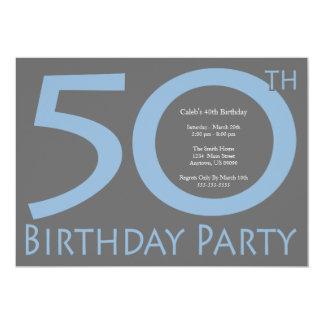 ジャンボは誕生会に番号を付けます(青/灰色) カード