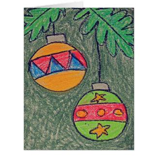 ジャンボクリスマスの着色のクリスマスカード カード