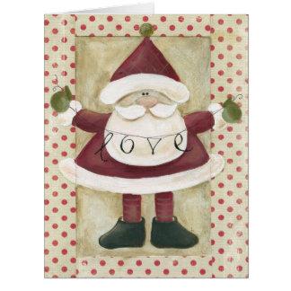 ジャンボサンタの旗のクリスマスカード カード