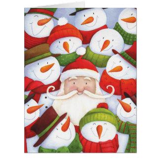 ジャンボサンタSelfiesのクリスマスカード カード