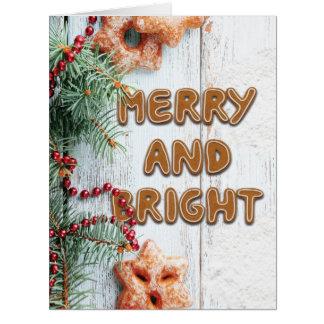 ジャンボジンジャーブレッドメッセージのクリスマスカード カード