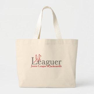 ジャンボトート- Lilのリーグの選手 ラージトートバッグ